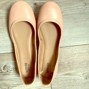 Rose colored ballet flats